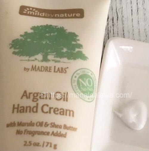 Mild-by-nature-argan-oil-hand-cream-texture