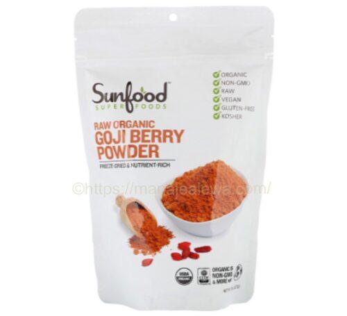 Sunfood-raw-organic-goji-berry-powder